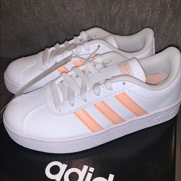 adidas Other - Girls adidas pink and white shoes size 12